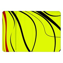 Yellow Decorative Design Samsung Galaxy Tab 8 9  P7300 Flip Case