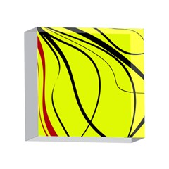 Yellow decorative design 4 x 4  Acrylic Photo Blocks