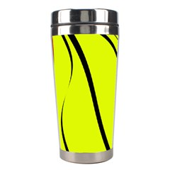 Yellow decorative design Stainless Steel Travel Tumblers