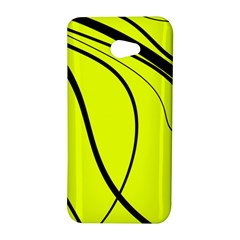 Yellow decorative design HTC Butterfly S/HTC 9060 Hardshell Case