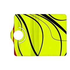 Yellow decorative design Kindle Fire HD (2013) Flip 360 Case
