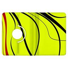 Yellow decorative design Kindle Fire HDX Flip 360 Case