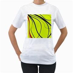 Yellow decorative design Women s T-Shirt (White)