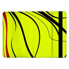 Yellow decorative design Samsung Galaxy Tab Pro 12.2  Flip Case
