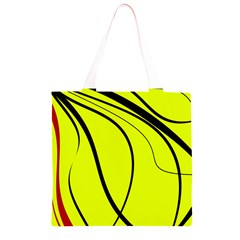 Yellow decorative design Grocery Light Tote Bag