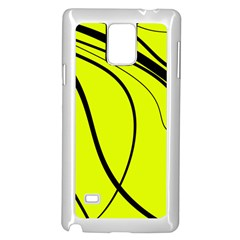 Yellow decorative design Samsung Galaxy Note 4 Case (White)