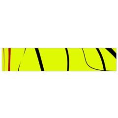 Yellow decorative design Flano Scarf (Small)