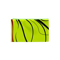 Yellow decorative design Cosmetic Bag (XS)