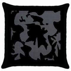 Decorative Elegant Design Throw Pillow Case (Black)