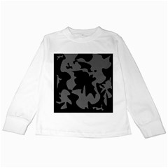 Decorative Elegant Design Kids Long Sleeve T-Shirts