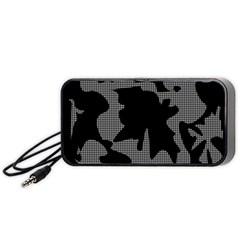 Decorative Elegant Design Portable Speaker (Black)