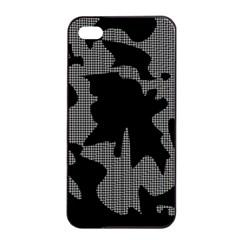 Decorative Elegant Design Apple iPhone 4/4s Seamless Case (Black)