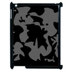 Decorative Elegant Design Apple iPad 2 Case (Black)