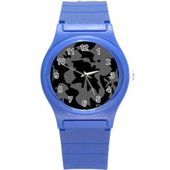 Decorative Elegant Design Round Plastic Sport Watch (S)