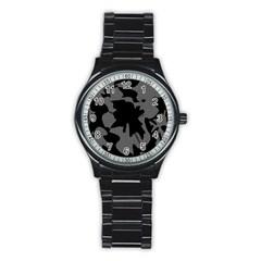 Decorative Elegant Design Stainless Steel Round Watch