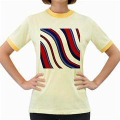 Decorative Lines Women s Fitted Ringer T-Shirts