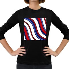 Decorative Lines Women s Long Sleeve Dark T-Shirts