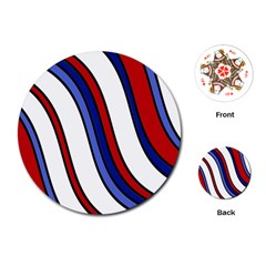 Decorative Lines Playing Cards (Round)