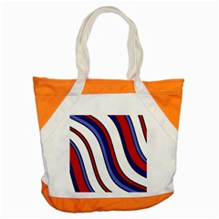 Decorative Lines Accent Tote Bag
