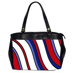 Decorative Lines Office Handbags (2 Sides)
