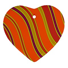 Orange lines Ornament (Heart)