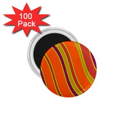 Orange lines 1.75  Magnets (100 pack)