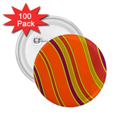 Orange lines 2.25  Buttons (100 pack)