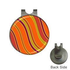 Orange lines Hat Clips with Golf Markers