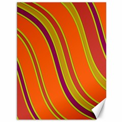 Orange lines Canvas 36  x 48