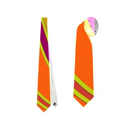 Orange lines Neckties (One Side)