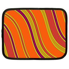 Orange lines Netbook Case (XL)