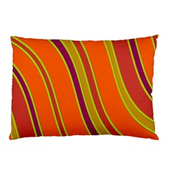 Orange lines Pillow Case (Two Sides)