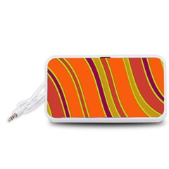 Orange lines Portable Speaker (White)
