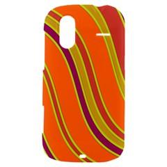 Orange lines HTC Amaze 4G Hardshell Case