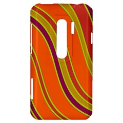 Orange lines HTC Evo 3D Hardshell Case