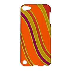 Orange lines Apple iPod Touch 5 Hardshell Case