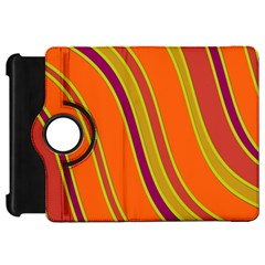 Orange lines Kindle Fire HD Flip 360 Case