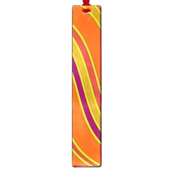 Orange lines Large Book Marks