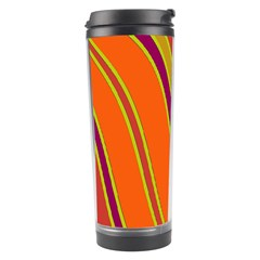 Orange lines Travel Tumbler