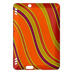Orange lines Kindle Fire HDX Hardshell Case