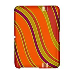 Orange lines Amazon Kindle Fire (2012) Hardshell Case