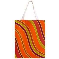Orange lines Classic Light Tote Bag