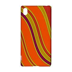 Orange lines Sony Xperia Z3+