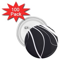 Black and white elegant design 1.75  Buttons (100 pack)