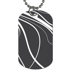 Black and white elegant design Dog Tag (One Side)