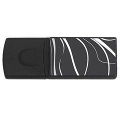 Black and white elegant design USB Flash Drive Rectangular (1 GB)