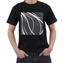 Black and white elegant design Men s T-Shirt (Black) (Two Sided)