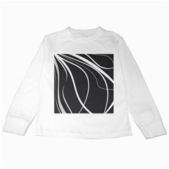 Black and white elegant design Kids Long Sleeve T-Shirts