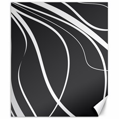 Black and white elegant design Canvas 20  x 24
