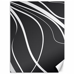 Black and white elegant design Canvas 36  x 48